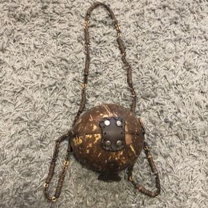 Coconut Shell Side Purse | Authentic Coconut